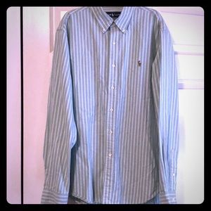 Polo Ralph Lauren light green striped white sz XL